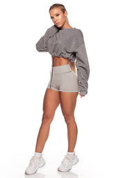 Storm Grey Toggle Jumper