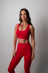 Staple Deep Red Leggings