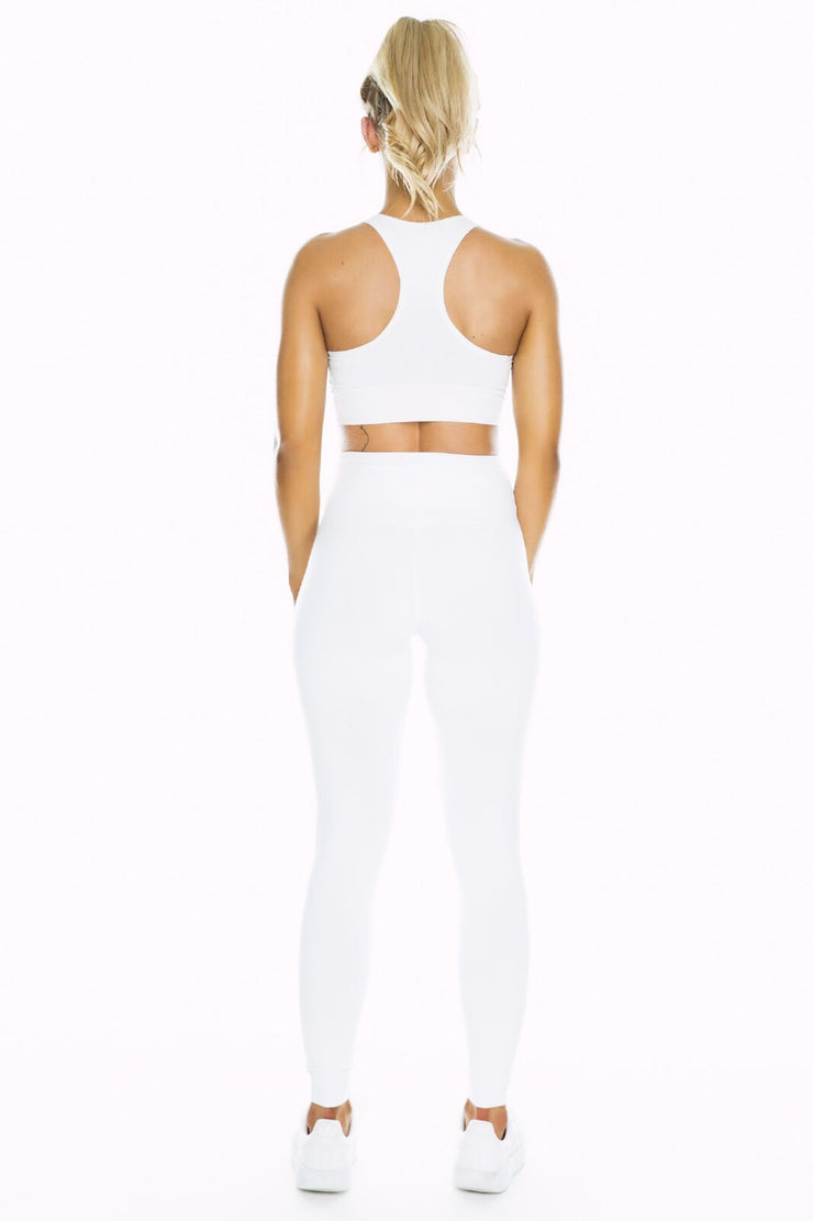 Sample - White High Waist Leggings