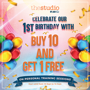 First Birthday Promo - Buy 10 and Get 1 Free Personal Training