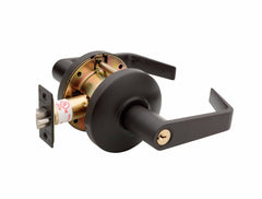 Commercial Non-Handed Grade 2 Security Storeroom Lever in Oil Rubbed Bronze AL6250-10B by Bulldog