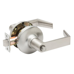 Commercial Non-Handed Grade 1 Security Push Button Privacy   Lever in Satin Stainless AL7231SS by Bulldog