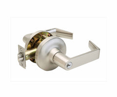 Commercial Non-Handed Grade 1 Security Keyed Entry with Push Button Lever in Satin Stainless AL7241SS by Bulldog