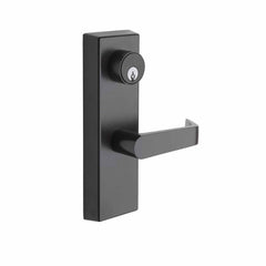 Commercial Non-Handed Exterior Escutcheon Keyed Entry Lever in Oil Rubbed Bronze AL9140-10B by Bulldog
