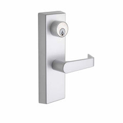 Commercial Non-Handed Exterior Escutcheon Keyed Entry Lever in Satin Stainless AL9140SS by Bulldog
