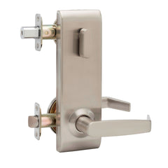 Commercial Non-Handed One Point Locking Interconnected Lock Lever in Satin Stainless ALC6920SS by Bulldog