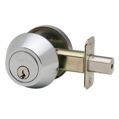 Single Cylinder Deadbolt in Polished Stainless DB2410PS by Copper Creek