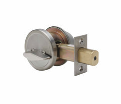 Commercial Grade 2 Security Single Cylinder Deadbolt in Satin Stainless DB6410SS by Bulldog
