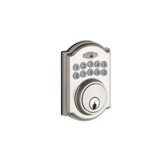 Heritage Electronic Push Button Deadbolt in Satin Stainless DBH3410SS by Copper Creek