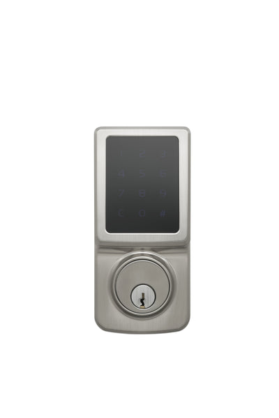 Fashion Series Z-Wave Electronic Deadbolt in Satin Stainless DBZF3410SS by Copper Creek