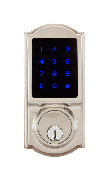 Heritage Series Z-Wave Electronic Deadbolt in Satin Stainless DBZH3410SS by Copper Creek