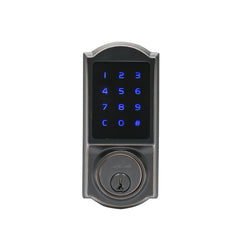 Heritage Series Z-Wave Electronic Deadbolt in Tuscan Bronze DBZH3410TB by Copper Creek