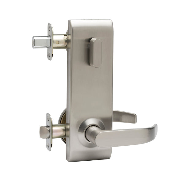 Commercial Non-Handed One Point Locking Interconnected Lock in Satin Stainless ELC6920SS by Bulldog