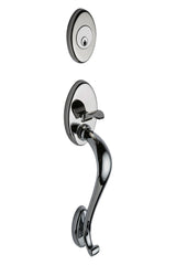 Mediterranean Handleset in Polished Stainless H1PS by Montana Forge