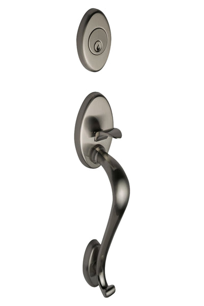 Mediterranean Handleset in Satin Stainless H1SS by Montana Forge