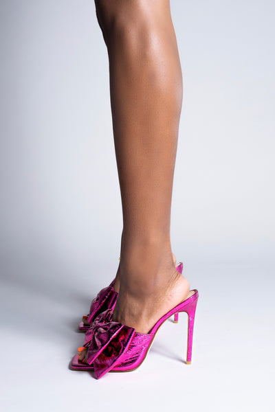 Girl Friend Heels - Fuchsia (Estimated Ship Date June 25th - July 5th)