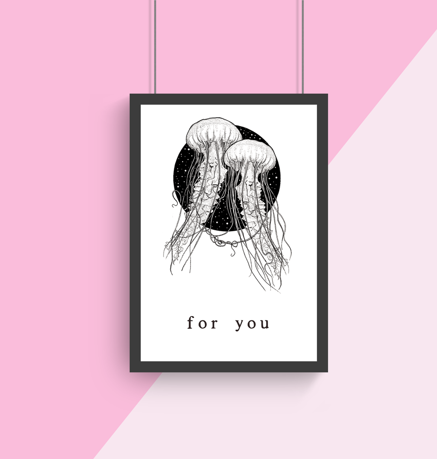 For You A4 Print Collaboration by Two Brides Presents and Courtney Peppernell