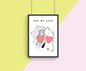 For My Love A4 Print Collaboration by TBP and Courtney Peppernell