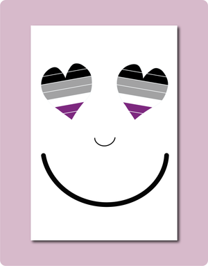 Asexual Smiles Greeting Card