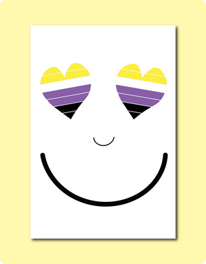 Non Binary Smiles Card