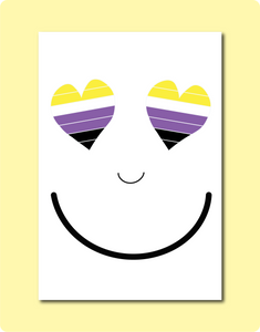 Non-Binary Enby Smiles Card