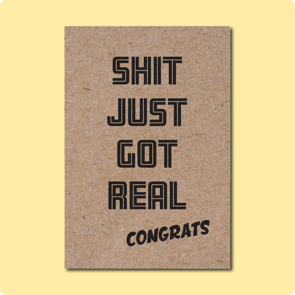 Shit Just Got Real Congratulations Greeting Card for Wedding Engagement Gay LGBT