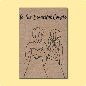 To the Beautiful LGBTQ Couple Wedding Greeting Card