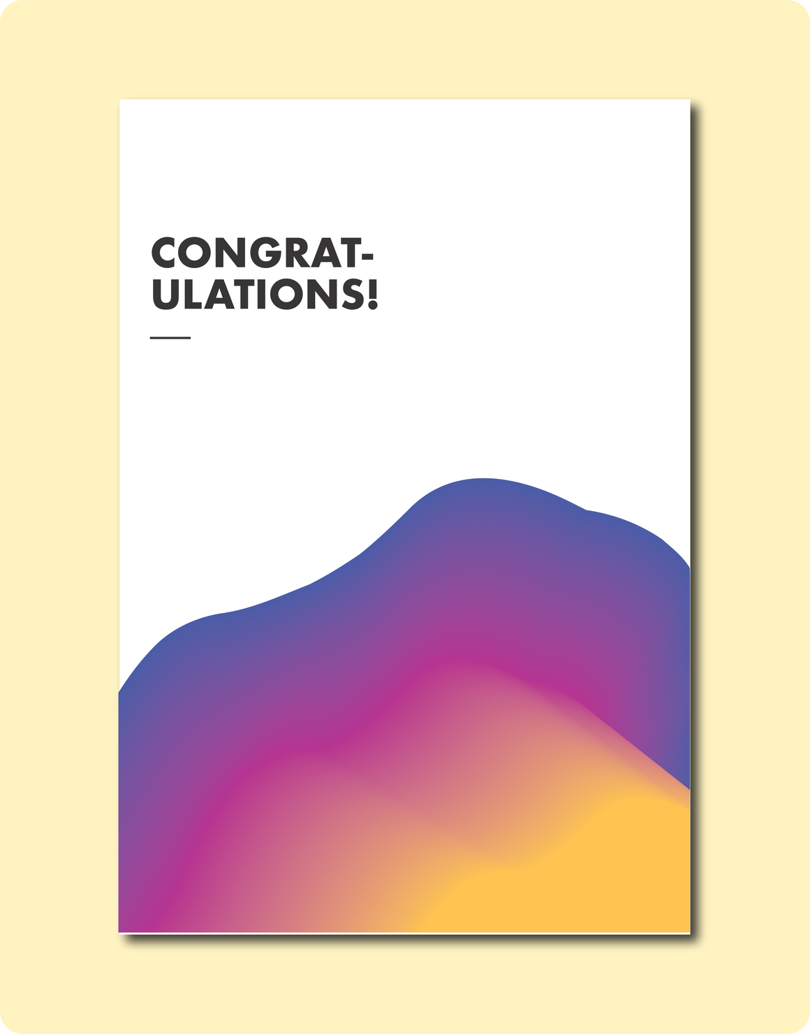 Sunset Congrats Card