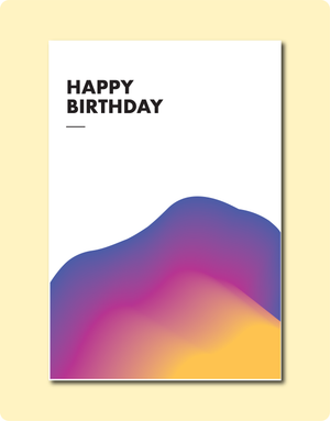 Birthday Sunsets Card