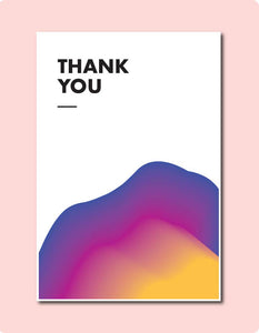 Sunset Thank You Card ~ Jhn Rvl Dsgns Thngs X TBP Collab