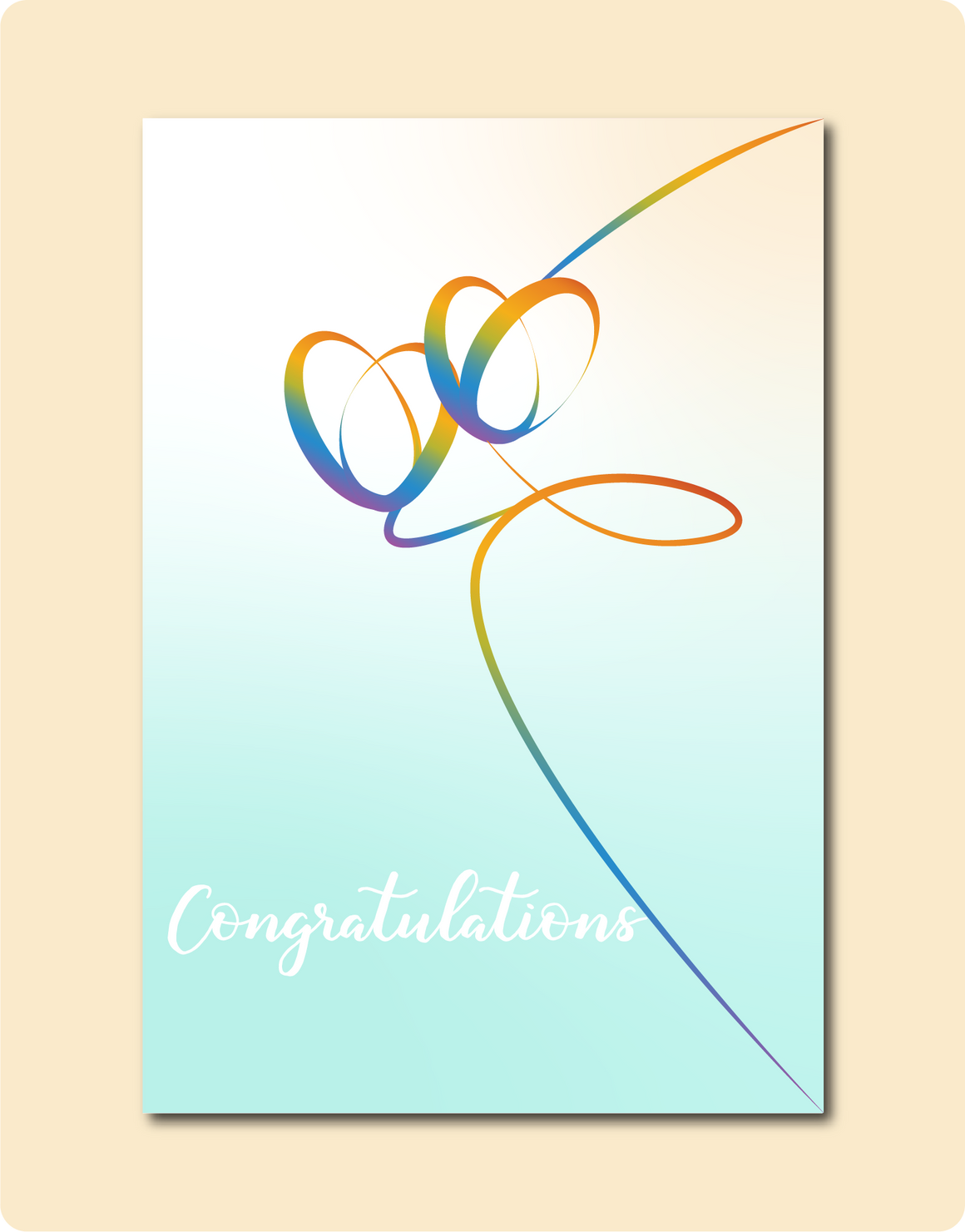Rainbow Hearts Congratulations Card