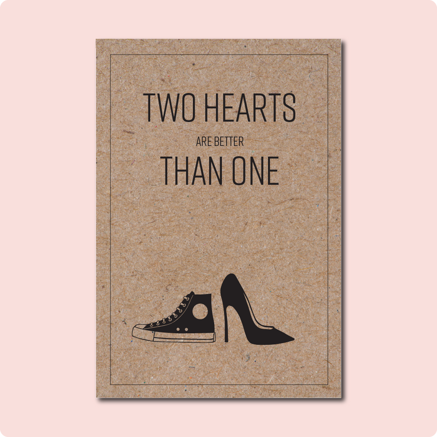 Two Hearts Wedding Engayged Card