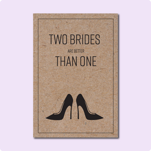 Two Brides Wedding Card ~ Lucille Designs X TBP