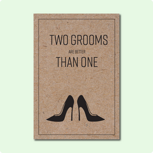 Two Grooms Card