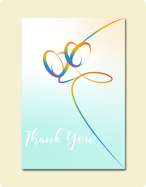 Thank You Rainbow Hearts Card