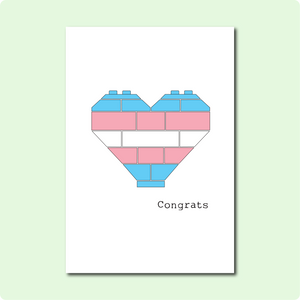 Trans Heart Congrats Card