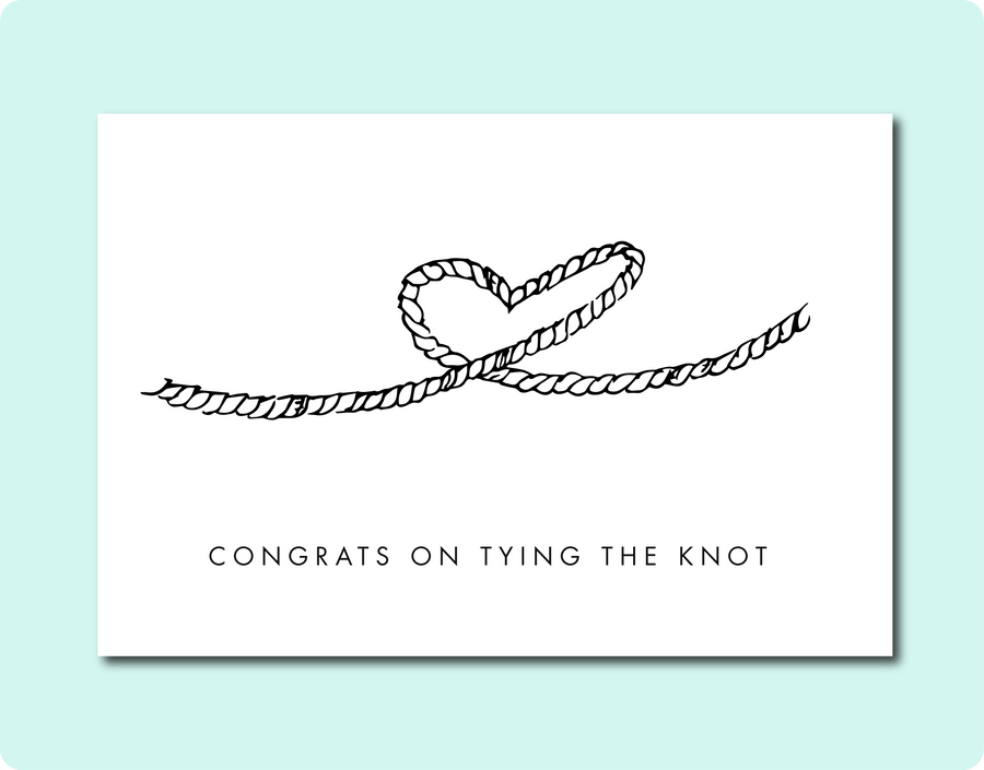 Tying The Knot Card - Natasha Rose Art X TBP Collab