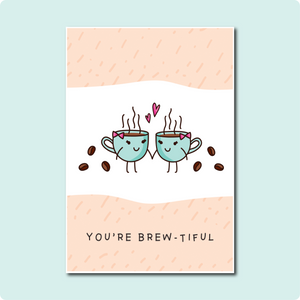 You're Brew-tiful Card Collaboration with Courtney Peppernell and Two Brides Presents