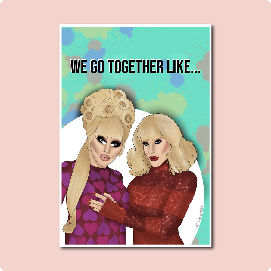 Trixie and Katya Card