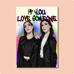 The Veronicas Love Someone Card ~ Albi Arts X TBP