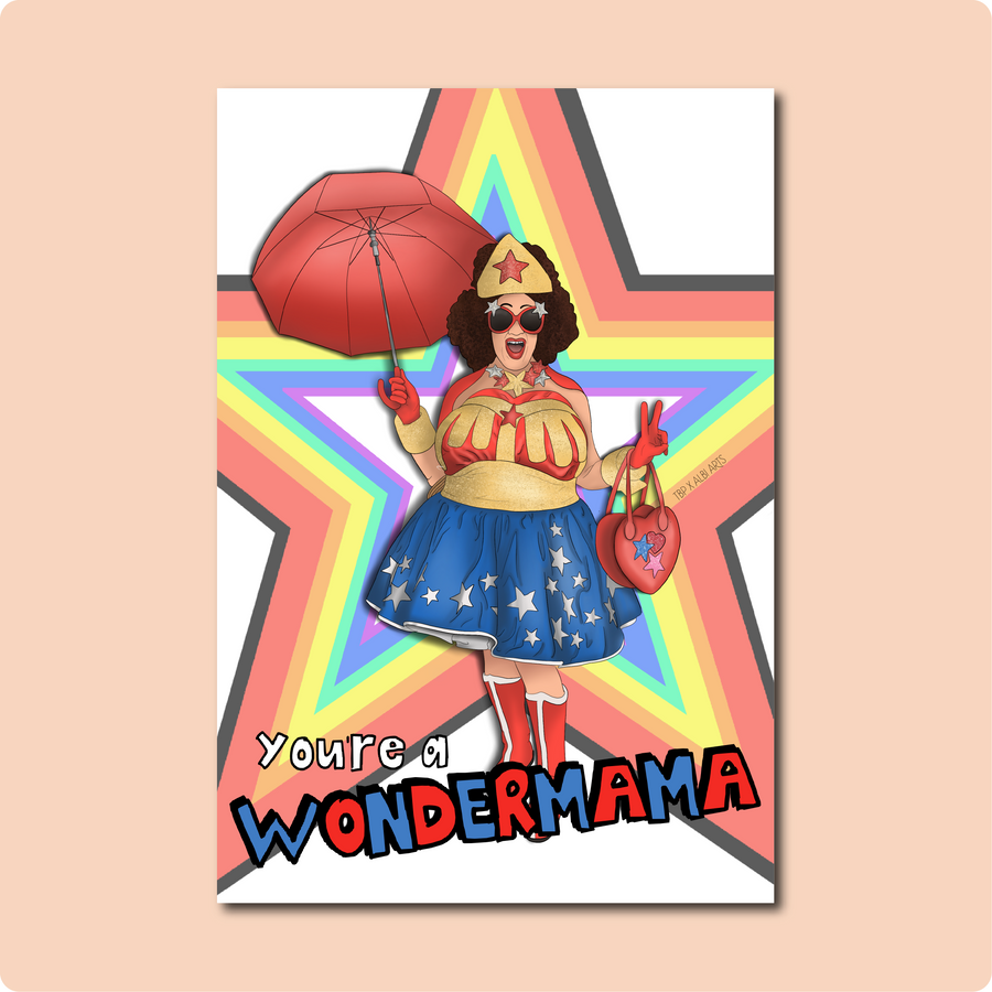 You're a Wondermama Card ~ Albi Arts X TBP Collab