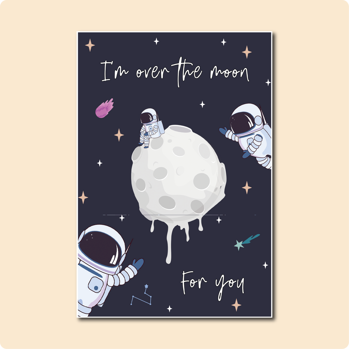 I'm Over The Moon For You Card