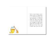 Load image into Gallery viewer, Bee Mine Poem Greeting Card