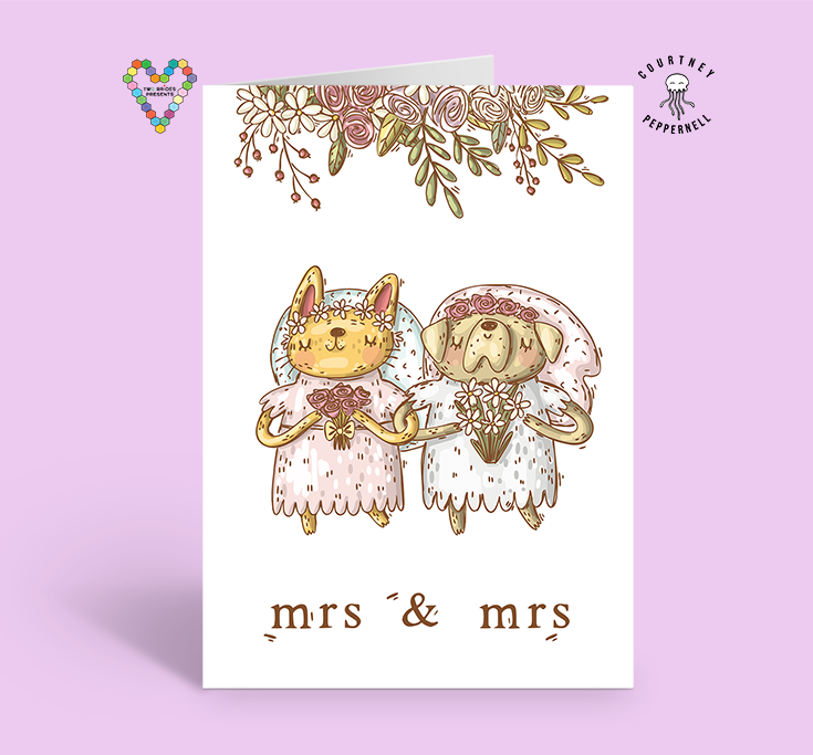 Mrs & Mrs Poetry Card ~ Courtney Peppernell X TBP