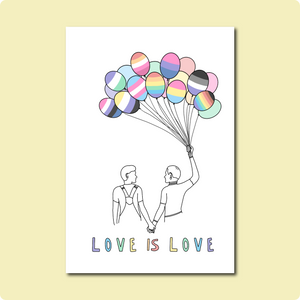 Love is Love Card ~ Brittany Wiggins Art X TBP