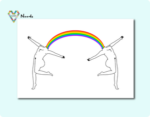 Head Full Of Rainbows Card ~ Noods Creative X TBP Collab