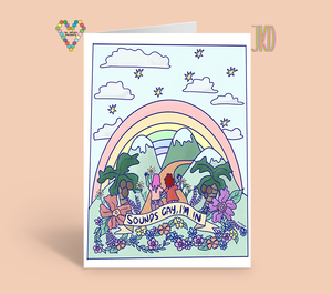 Sounds Gay, I'm In Card ~ JuliaKDesigns X TBP