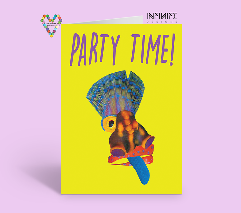 Ismaya, The Indian, Party Time Greeting Card