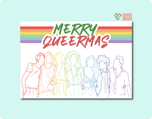 Merry Queermas GenQ L Word Crew Greeting Card
