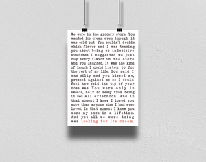 I Love You More Than Ice Cream A4 Print Collaboration by TBP and Courtney Peppernell